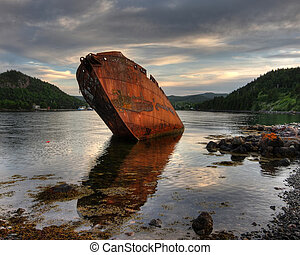 Shipwreck - The remains of an old whaling vessel long...