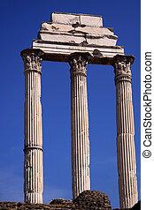 Temple Columns - Corinthian columns of the temple of Castor...