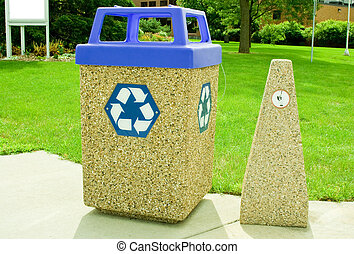 recycle bin and butt disposal