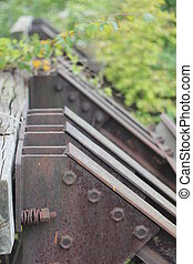 End Of Railtrack - Old stopper at the end of a railtrack...