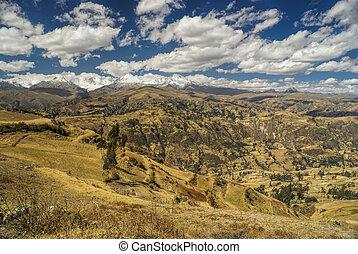 Cordillera Negra in Peru - Side-view of the Peruvian...