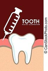 dental design - dental graphic design , vector illustration