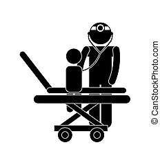 pediatrician design - pediatrician graphic design , vector...