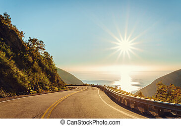 Cabot Trail in the fall (Cape Breton, Nova Scotia, Canada)