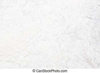 Natural white sheep fur background