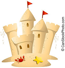 Sand Castle with Clipping Path