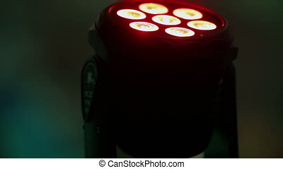 Lights equipment - Rotating light device in home
