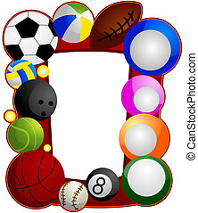 Ball Sports Frame with Clipping Path