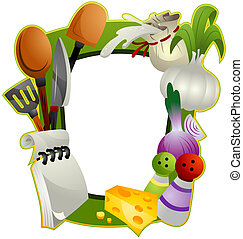 Cooking Frame with Clipping Path