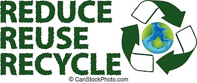 Recycle - Illustration of a recycling sign