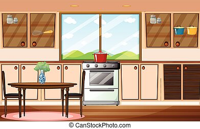 Pantry - Illustration of a classic pantry