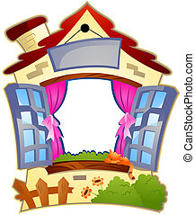 House Frame with Clipping Path