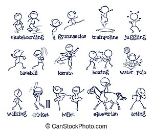 Sports - Illustration of a set of different sports