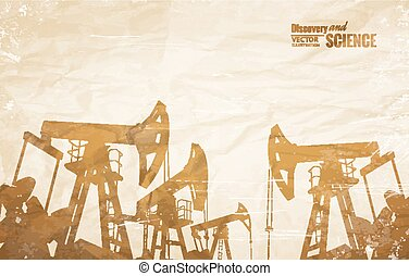 Oil industry design. - Oil industry background with oil...