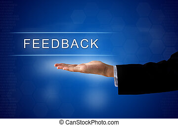 feedback button on virtual screen - feedback button with...