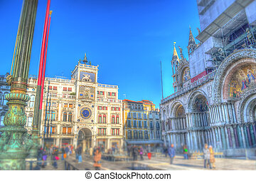 tilt shift in San Marco - San Marco square with tilt shift...