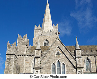 Christ Church, Dublin - Christ Church in Dublin, gothic...