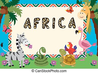 African animals card 3