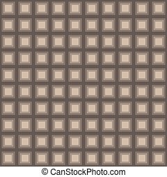 Squares seamless pattern light brown colors Vector...