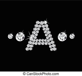 Diamond vector alphabetic letter 'A'