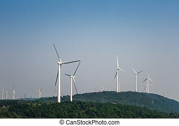 Bauernhof, neu, Energie,  -,  Wind