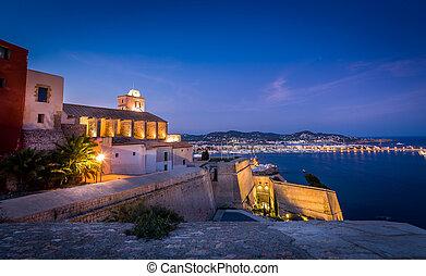 Ibiza fortress - Castillo Almudaina in Dart Vila fortress...