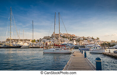 Dalt Vila fortress - Dalt Vila and Almudaina castle in Ibiza...