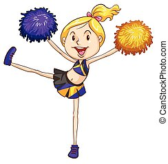 An energetic cheerdancer - Illustration of an energetic...