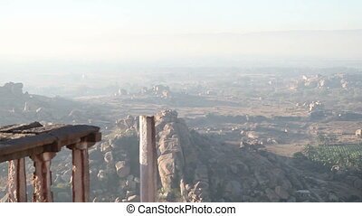 viewpoint in mountains Hampi - viewpoint in Hampi high in...