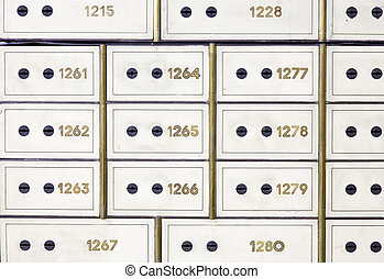 Antique safe deposit boxes