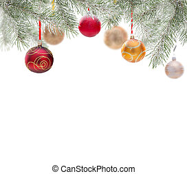 Abstract Christmas background isolated on white