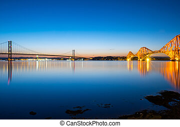 Bridges at South Queensferry - The bridges over the Forth of...
