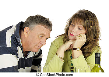 Dejected Middle Aged Couple - Dejected middle aged couple...
