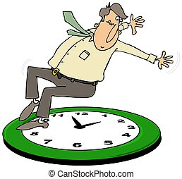 Fall back daylight savings time - This illustration depicts...