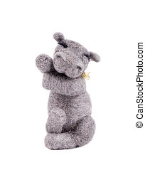Soft toy Hippo Isolated on a white background