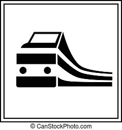 Train silhouette sign, station vector illustration