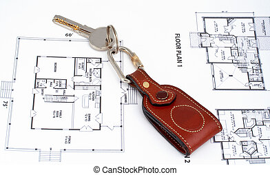 Key on home plan background