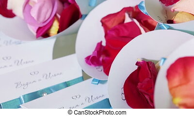 Packages with rose petals - Rose petals in the packages for...