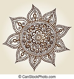 Mandala Round Ornament Pattern Ornamental Flowers Vector set...
