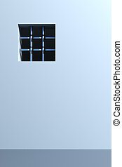 prison\'s window 3d rendering