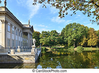 Lazienki Palace - Royal Palace in Lazienki in Warsaw. North...