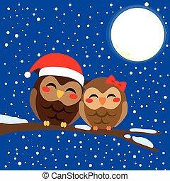 Christmas Owl Love