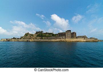 Gunkanjima (Hashima Island) in Nagasaki, Japan. Hashima...