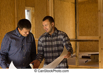 Architects Discussing Building Interior Design