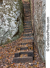 Stairs At Black Mountain In The Justin P. Wilson Cumberland...