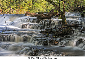 Waterfall At Burgess Falls State Park - Waterfalls At...