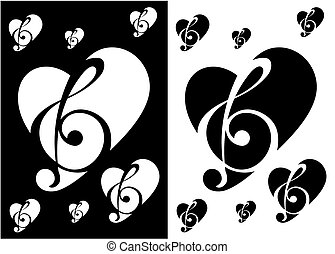 Music Note Silhouette Heart silhouette