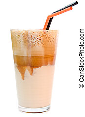 frappe - greek cold coffee - frappe isolated on white