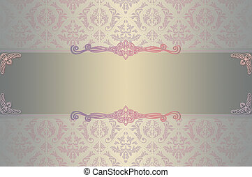 Wedding invitation template - Elegant floral background for...