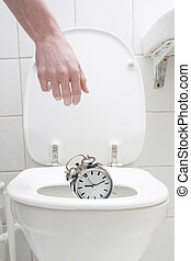 Alarm clock - Throwing the alarm clock out